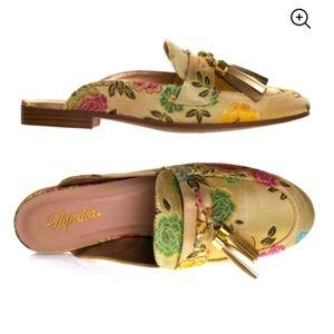 Paprika Lulani Floral Slip-On Mules, Size 11
